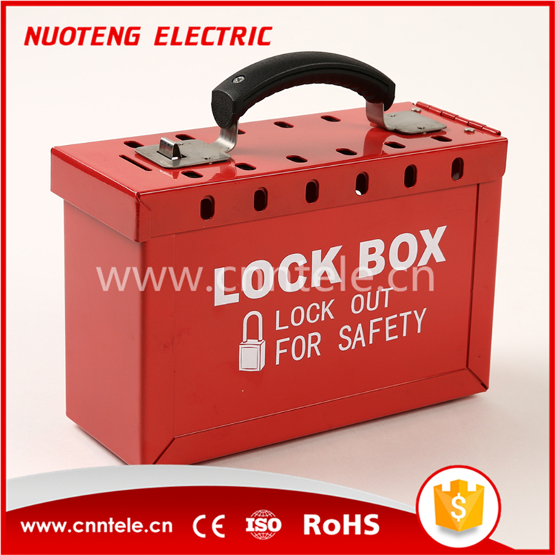 Portable Steel Group Safety Lockout Box Kits