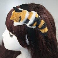 WmcyWell Gorąca Sprzedaż Styl Japoński Mori Dziewczyna Lolita Kawaii Kot Głowy Hairbands Strona Stroik Nakrycia Głowy Włosów Hoop Akcesoria