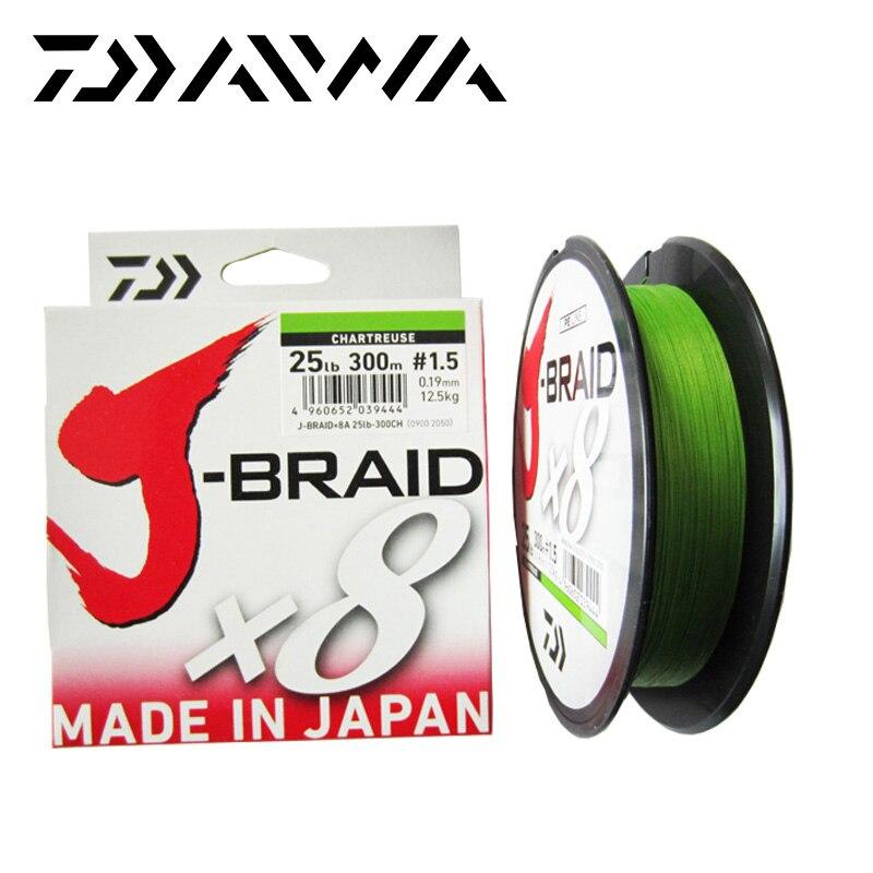 Kostenloser Versand Daiwa J-BRAID 8A 150M 100% Original multicolor 8 draht geflecht linie monofilament 10-60lb angelschnur made in japan