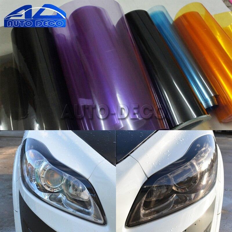 30*200Cm Gloss Light Wrap Koplamp Filmfiche 13 Kleuren Auto Koplamp Achterlicht Fog Vinyl Sticker Wrap