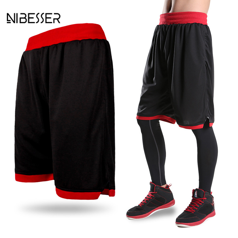 NIBESSER Brand  Men Shorts Multicolor Active Fitness MenTrunks Casual Shorts For Men Beathable Sporting Beach Shorts 2017