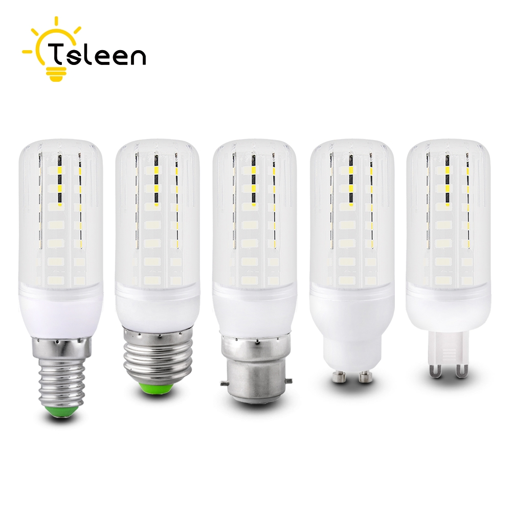 Milky Cover E14 E27 LED Bulb SMD 5733 Light Corn Beans Lamp AC 220V 110V 20W 25W Lampadas Leds White Warm White Home Decor Lamp