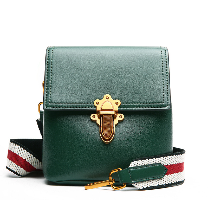 cow leather shoulder bag brand new 2018 messenger bag women genuine leather bolsa feminina free Shipping Two shoulder straps