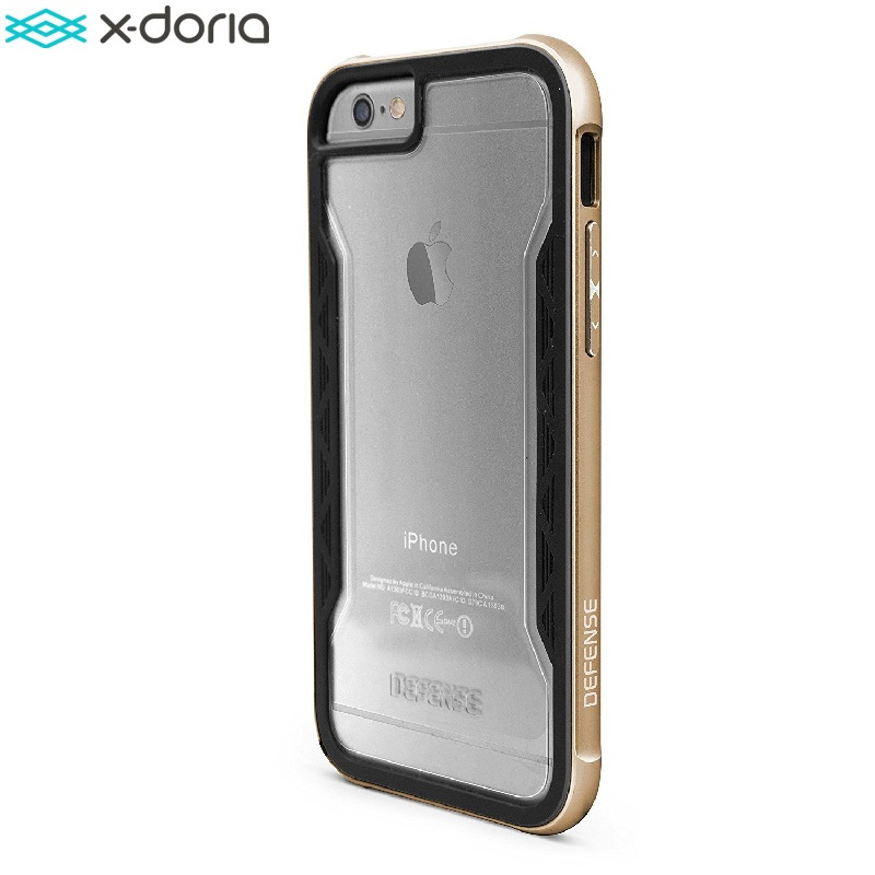 imágenes para X-doria defense shield case para coque iphone 6s/iphone 6 cubierta [Grado militar Probado Gota] TPU y Protector De Aluminio Capinha