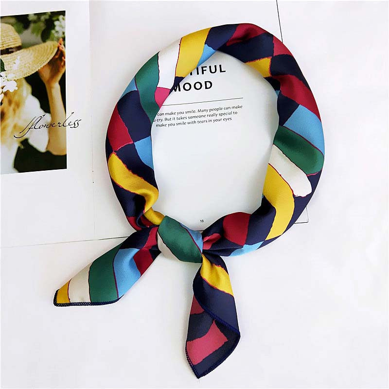 Silk Square Scarf Spring Summer Women Professional Scarf Hijab Fashion Neck Bag Decoration Sunscreen Variety Satin Headwear