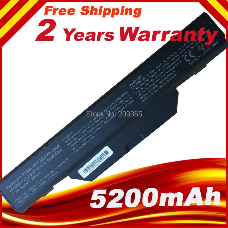 5200mAh Laptop Battery for HP COMPAQ 510 550 610 615 6720s 6730s 6735s 6820s 6830s HSTNN-IB51/LB51/IB62/OB62