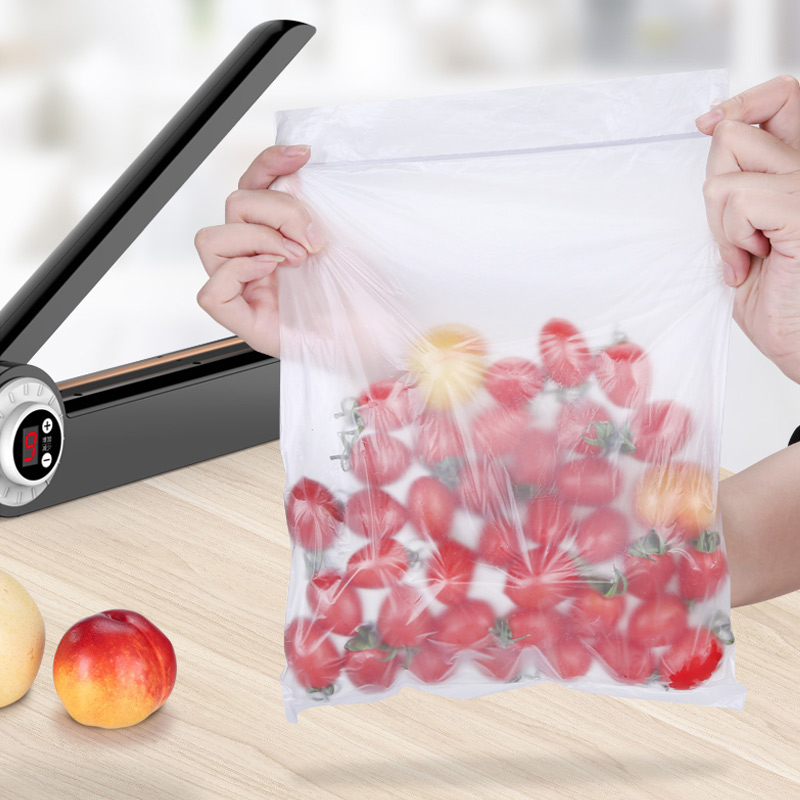 YTK 220V Manual Food Sealer Packaging Machine Sealing Machine Hand Pressure Impulse Heat Sealer Poly Bag Machine