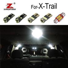 Светодиодная подсветка светодиодный интерьер Купол Карта крыши свет набор для Ниссан X Trail T30 T31 T32 для X-Trail светодиодный лампы 2001