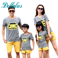 2017 summer dad and son clothes sets t-shirt + shorts sets mother daughter matching clothes family set casual family matching