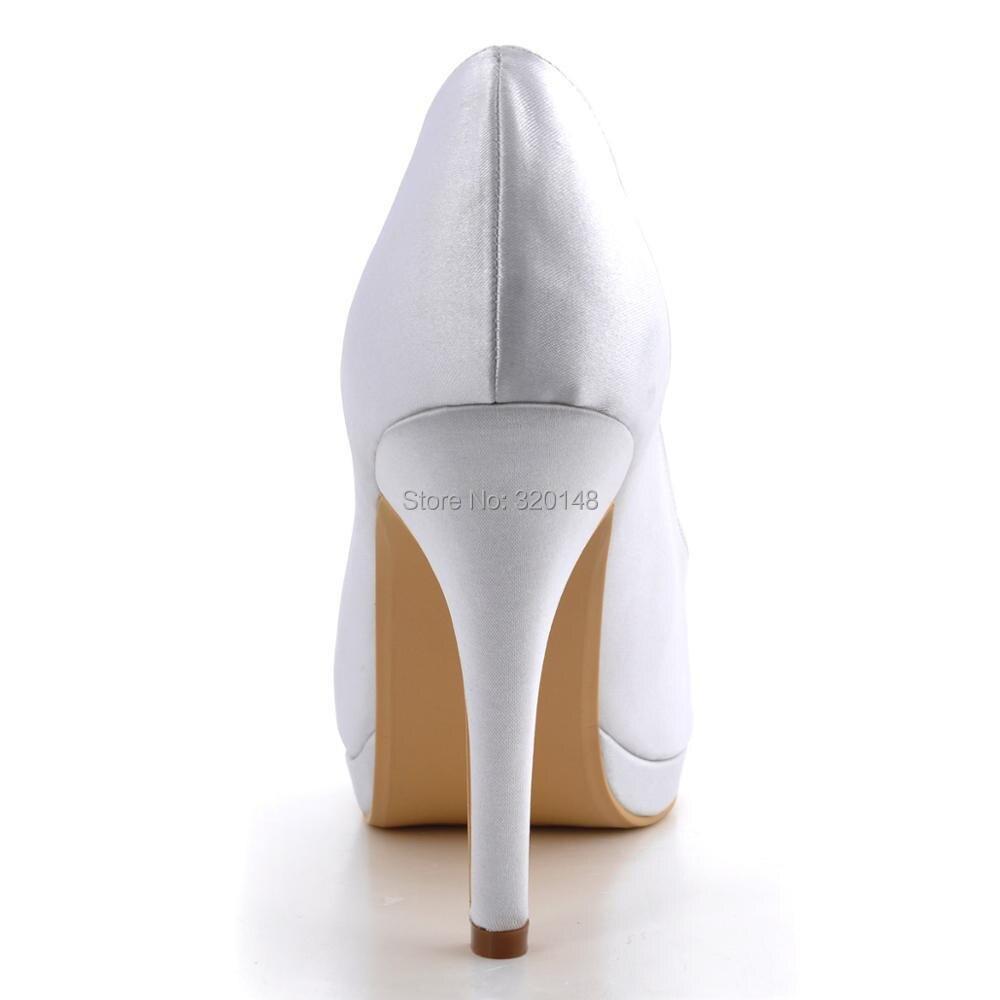 Scarpe donna EP2098 PF Avorio Bianco tacco Alto delle Pompe della piattaforma del Raso della signora Delle Donne Del Partito di Promenade Nuziale Scarpe Da Sposa - 6