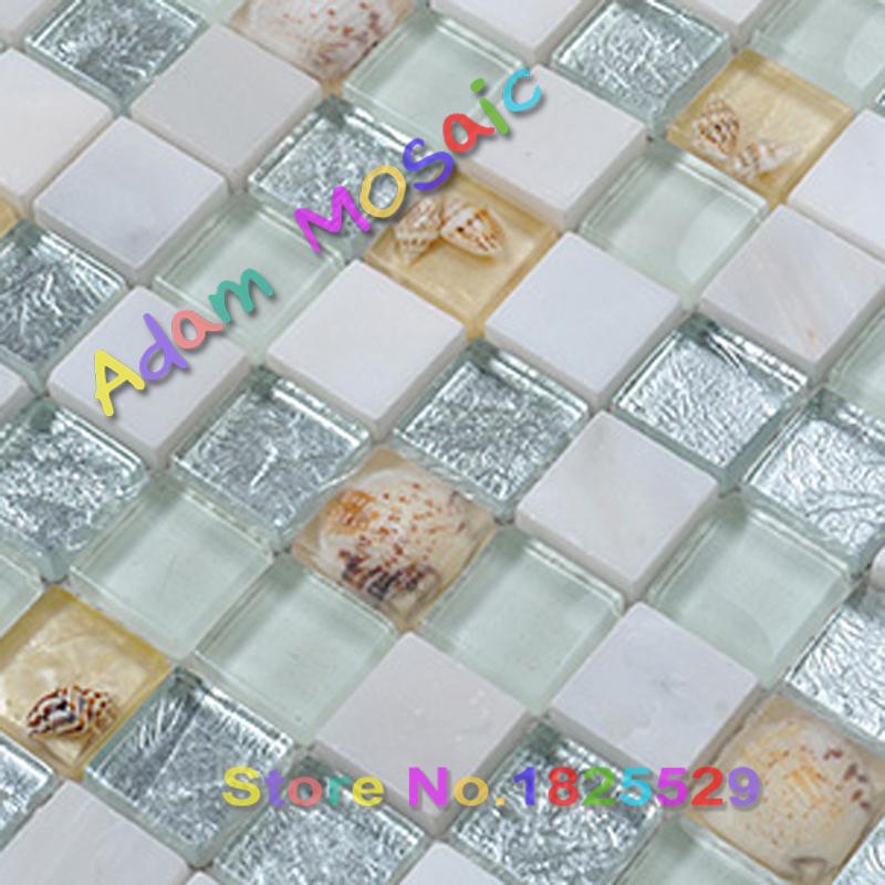 mar blanco shell nacarado azulejos baldosas de piedra azul verde cristal concha de mrmol beige travertino