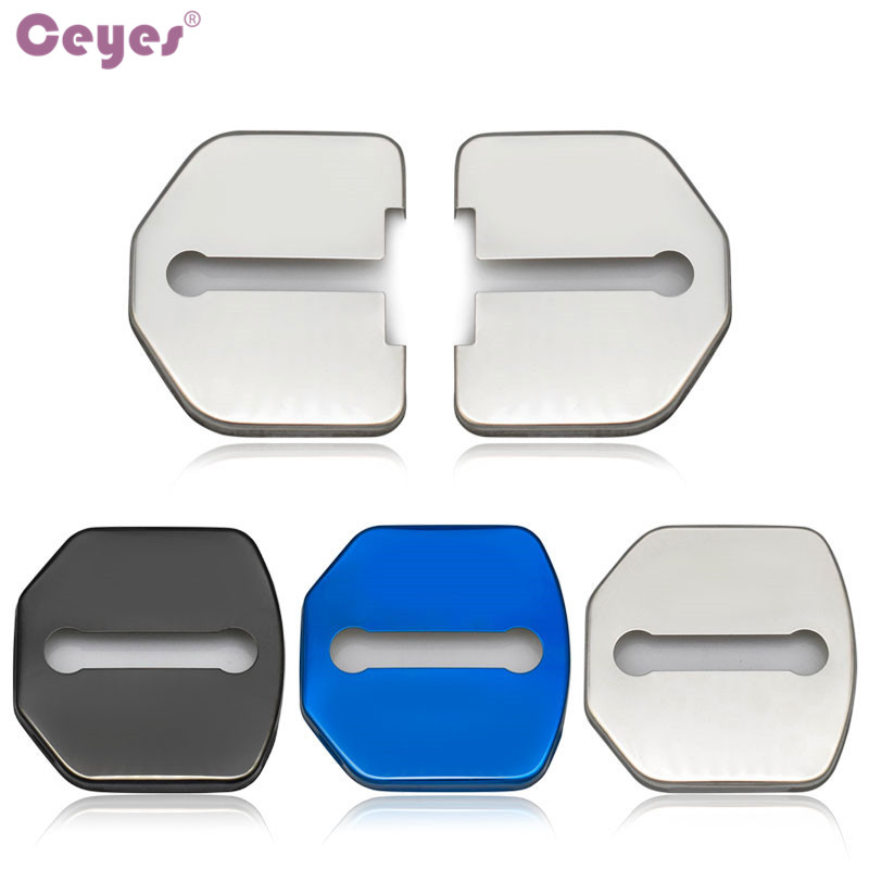 Ceyes Car Styling Auto Door Lock Decoration Cover Case For Ford Focus 2 3 MK3 Fiesta Kuga Escape Accessories Car-Styling 4pcs