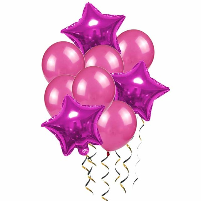 balloon rose red