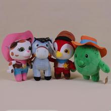 4pcs set Sheriff Callie s Wild West Cowboy Callie Cat Horse Woodpecker Cactus tree Plush Doll