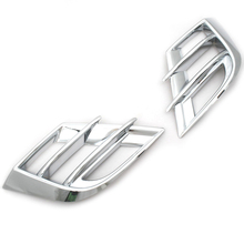 Chrome Styling Fog Light Grille Trim 2 Slates for Mazda 3 2010 Up