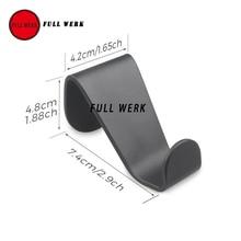 1 пара черный Алюминий сплав вешалка-крючок для пальто для Tesla модель S X спинки вешалка для одежды Хакен аксессуары для интерьера