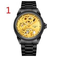 Роскошные мужские часы золотые черные кварцевые часы знаменитого бренда мужские наручные часы водонепроницаемые часы с календарем 78