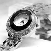 Круглый pnp Блестящий серебряный корпус для часов женские хрустальные