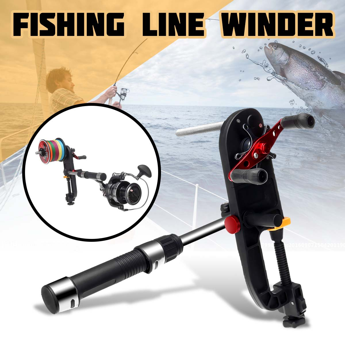 Fishing Line Winder High Speed Spooler Line Winding Fishing Line Recycler Fishing Tools