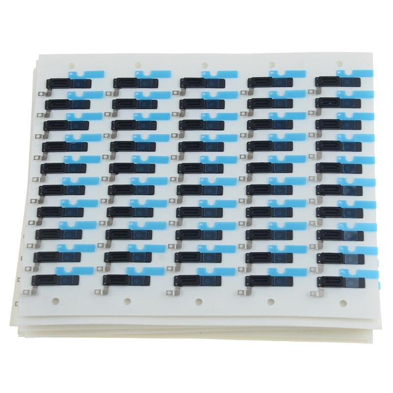 100 шт. клейкие ушные колонки для iPhone X XS Max 5 5S 5C 4S 7 8 6 6s Plus внутренний ушной динамик решетка против пыли сетка