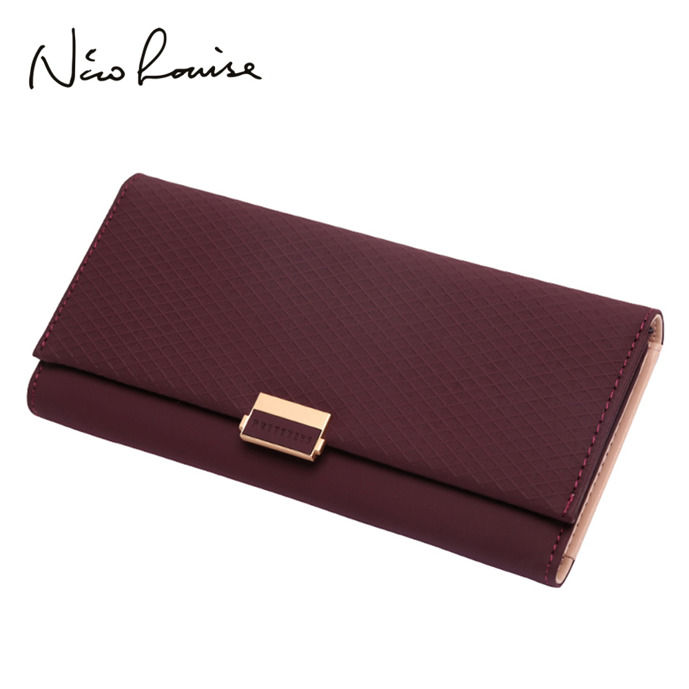 Woman Wallet Clutch Plaid Wallet Zipper Female Ladies Hot Change Women Luxury Credit Phone Card Holder Coin Purses For Girls