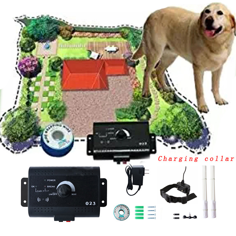 023 Safety In-ground Pet Dog Electric Fence With Chargable Dog Electronic Training Collar Buried Electric Dog Fence System