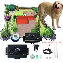 023 cerca eléctrica de seguridad para perros, con Collar de entrenamiento electrónico para perros recargable, cerca eléctrica para perros enterrada