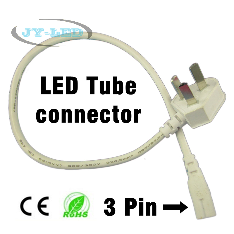 50cm Fluorescent Lamp Cable Connector 3 Pin Female with EU <font><b>Plug</b></font> For T5 <font><b>T8</b></font> LED Tube Connecting image
