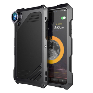 Image 5 - Metal Waterproof Case for iPhone X XS XR XSMAX 5 5S SE 6 6S 7 8 Plus Shockproof Alloy Bumper with Macro Wide angle Fisheye Lens