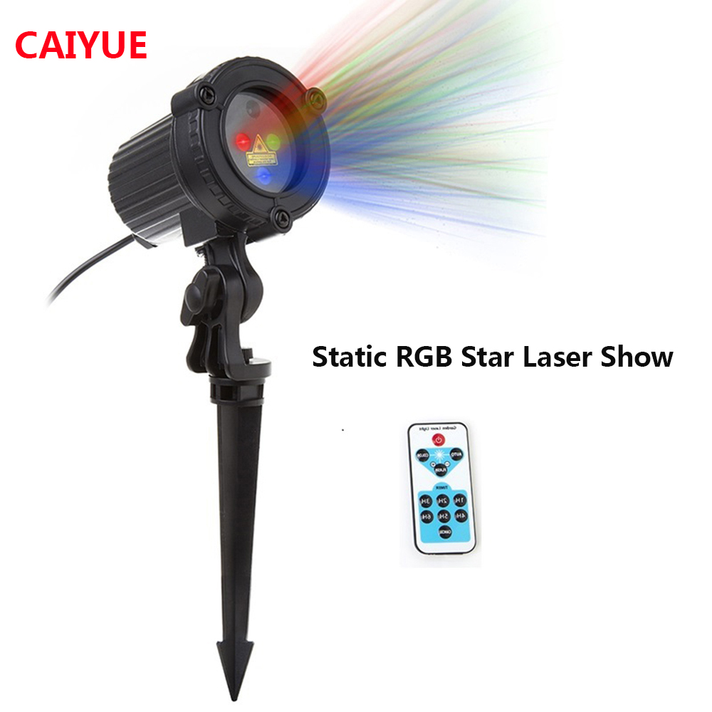 RGB Laser Christmas Lights Stars Red Green Blue showers Projector Garden Outdoor Waterproof IP65 For Xmas Decoration with Remote christmas garden laser lights moving rgb stars 20 patterns projector showers outdoor waterproof ip65 rf remote for xmas holiday