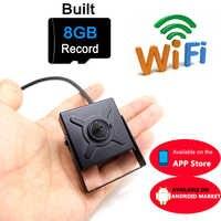 Mini cámara ip 720p HD wifi cctv seguridad inalámbrica hogar Cámara más pequeña 8G micro sd ranura para tarjeta tf vigilancia p2p wi fi