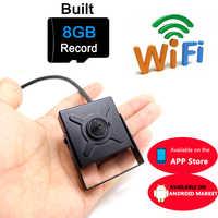 Mini caméra ip 720 p HD wifi cctv sécurité sans fil maison plus petite caméra 8G micro sd carte slot tf surveillance p2p wi-fi
