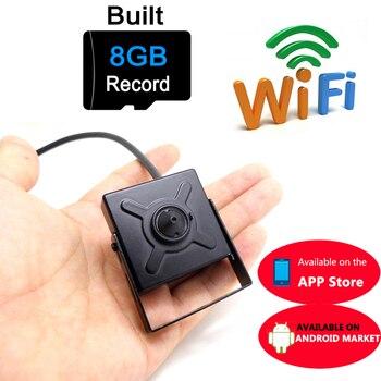 цена на mini ip camera 720p HD wifi cctv security wireless home smallest cam 8G micro sd card slot tf surveillance p2p wi fi