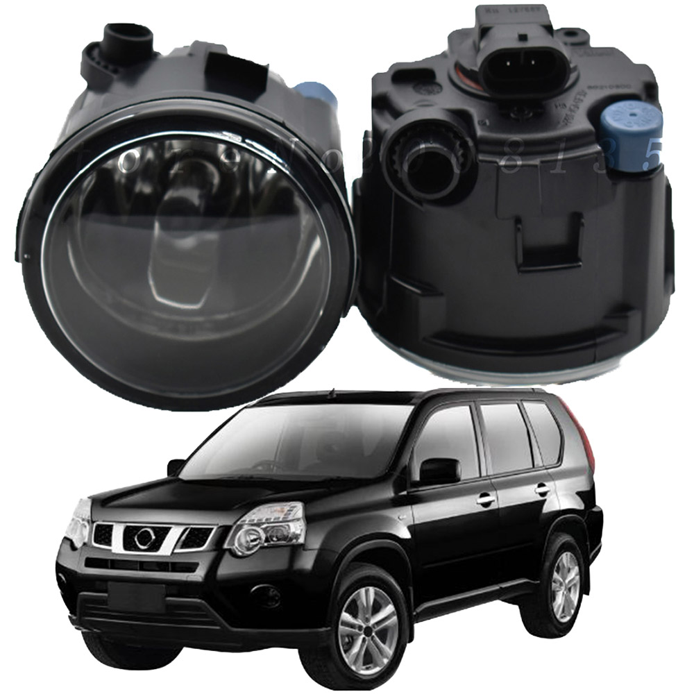 2PCS For Nissan X-Trail T31 Closed Off-Road Vehicle 2007-2013 Car LED Fog Light 4000LM 6000K DRL Daytime Running Lamp 12V