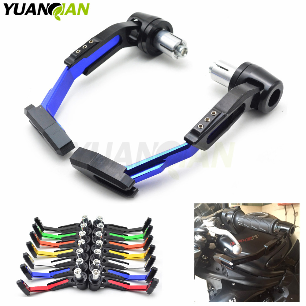 Universal 7/8 22mm Motorcycle Proguard System Brake Clutch Levers Protect Guard for honda CG125 CB190R 599 CB300F 500 CBR 600 aluminum universal 7 8 22mm motorcycle proguard system brake clutch levers protect guard for kawasaki z900 z650