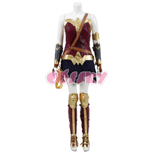 Wonder woman Cosplay Diana Prince costume Woman battle Suit Superhero Dress Halloween Costume for women