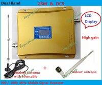 Best цена ЖК-дисплей Дисплей! Dual Band 65dbi gsm/DCS 900 мГц 1800 мГц мобильный телефон сигнал повторителя GSM/DCS BOOSTER Усилители домашние Extender
