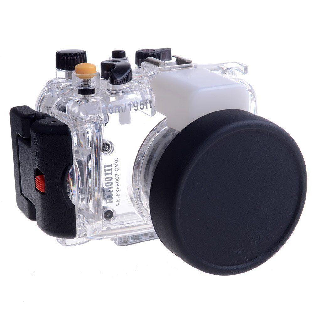 Meikon 40m Waterproof Underwater Housing Case For Sony DSC-RX100 Mark III for RX100 III meikon бокс meikon для sony rx100 iii