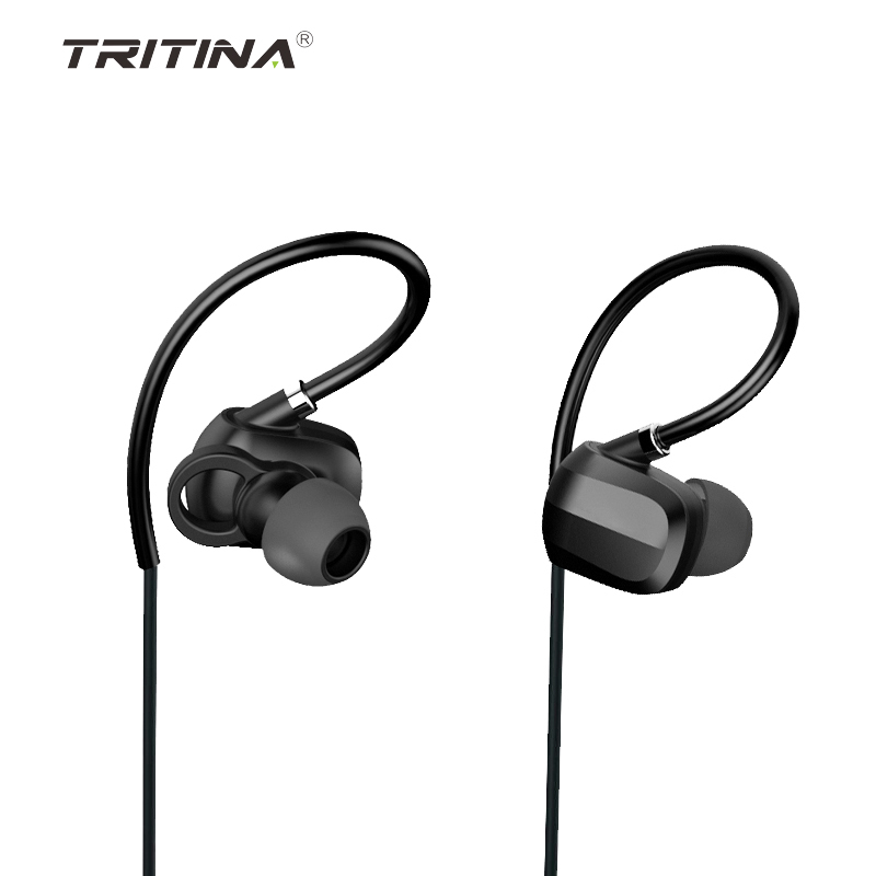 Tritina Bluetooth Earphone,Sport Earphones with MIC, Noise Cancelling Sport Earphone + Comfortable Memory Earbuds Stereo Sound ipsdi hf208 earphones dre dre earphone go pro earphone little audifonos girl earbuds with mic