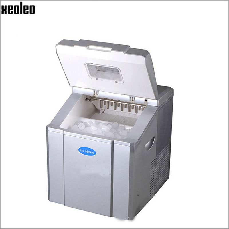 Xeoleo Commercial Mini Ice maker 20kg/24h Ice make machine 1.4kg storage Round Bullet Type Ice machine for Bubble tea/Coffee/Bar edtid portable automatic ice maker household bullet round ice make machine for family small bar coffee shop 220 240v 120w eu us