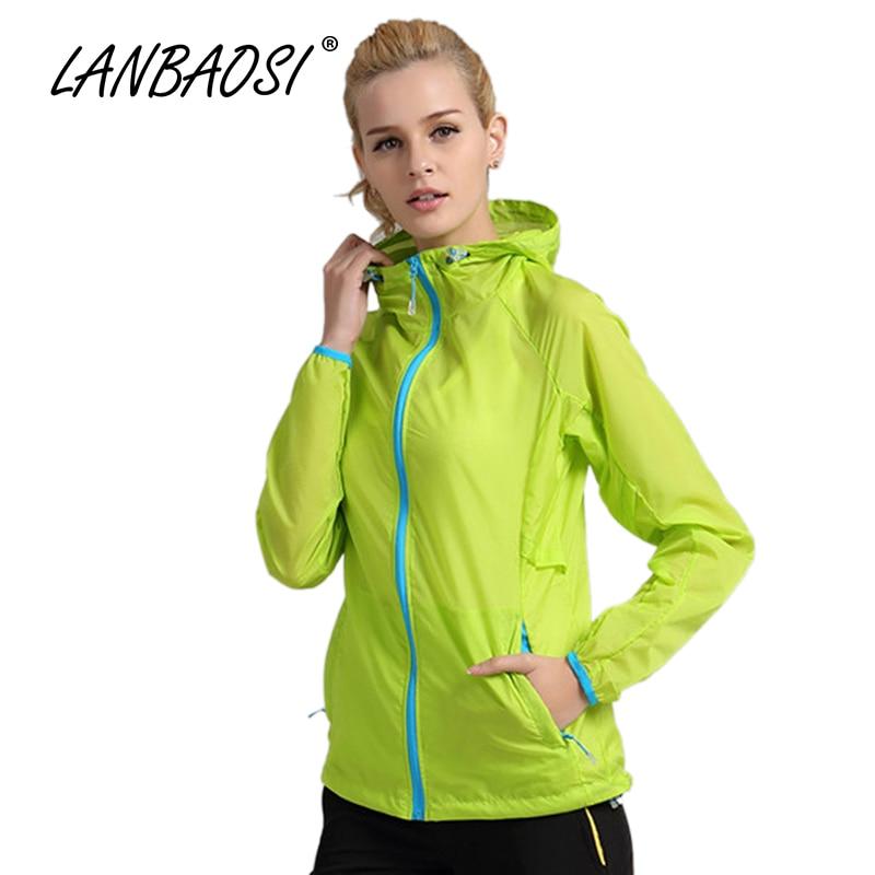 LANBAOSI Outdoor Sports Womens Ultralight Skin Jackets Hoodies Sunscreen Anti-UV Quick Dry Waterproof Travel Trekking Walking