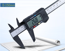 Sale 2017 New Arrival 150mm 6 inch LCD Digital Electronic Carbon Fiber Vernier Caliper Gauge Micrometer Measuring Tool