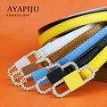 2016 new ladies belt designer strap women fashion pu riemen female narrow kemer wholesale high quality