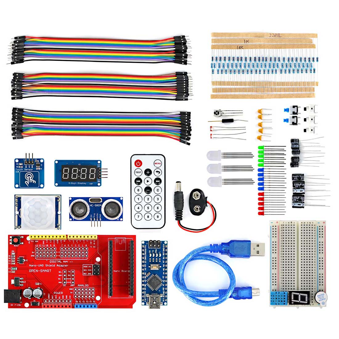 MODIKER  High Tech FOR Nano BreadBoard Kit FOR IO Expansion Board Sensor Module For Arduino Programmable Toys