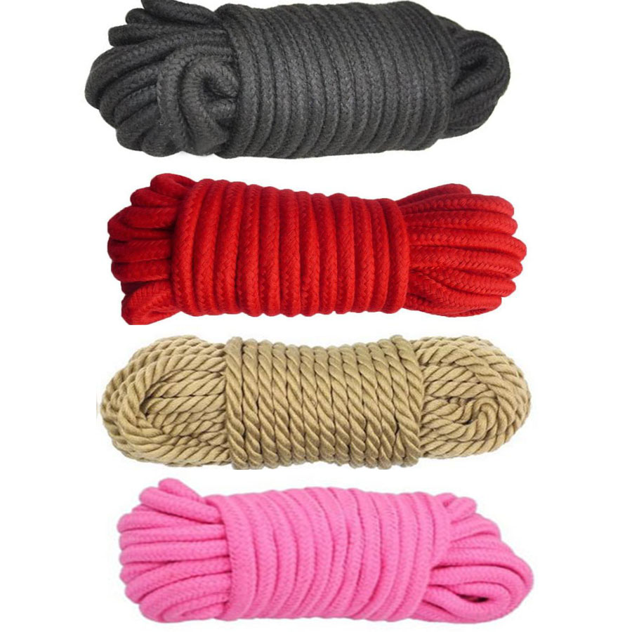 Soft Cotton Rope BDSM Bondage Shibari Restraints,5M Rope Cord Binding Binder Restraint,Role Play System