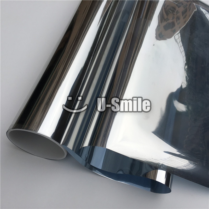 VLT 5% Silver One Way Vision Window Film Tint For Buliding Home Office Glass Size:1.52*30m/Roll