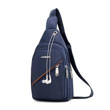 5f4194b0f1 2019 Nuovo Arrivato di Modo Degli Uomini di Nylon Petto Pack Maschio  Sacchetto del Messaggero di Viaggio sacchetti di Spalla Cro.