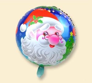 Image 5 - 100PCS/lot 18inch Santa Claus Snowman Christmas tree foil balloons Merry Christmas New Year Party Helium Balaos Decor Supplies