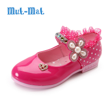 Girls Sandals Summer New Children Princess Shoes Fashion Lace Rhinestone Flower Kids Designer Single Shoes For Girls