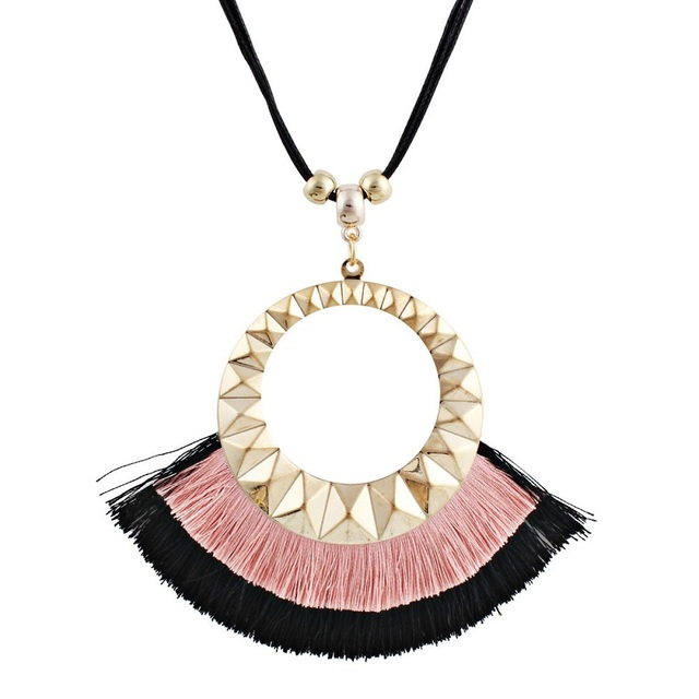 Купить ожерелье с кисточками naomy & zp женское длинное ожерелье бахромой